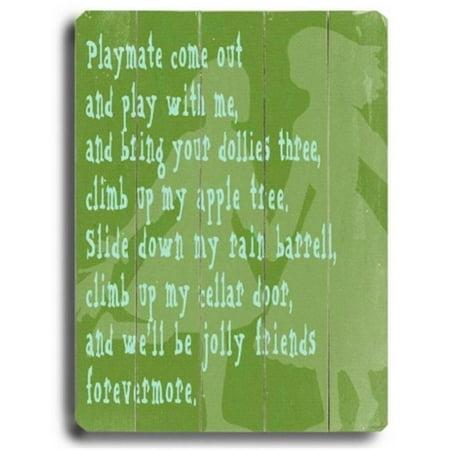 ArteHouse 0003-9049-26 Playmate Vintage Sign