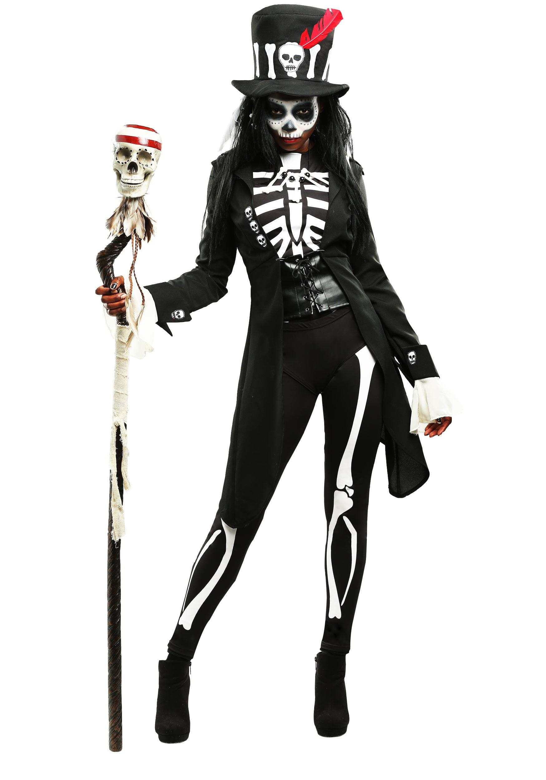 Women/'s Plus Size Cozy Skeleton Costume