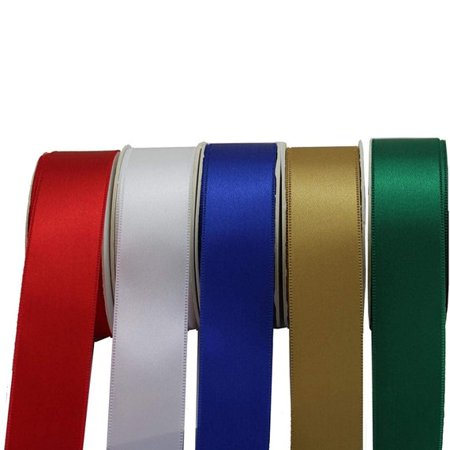 Satin Fabric Christmas Decoration Ribbon - Set of 5, 1