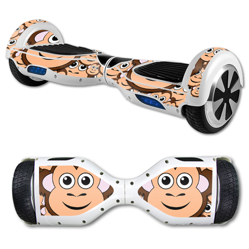 MightySkins Protective Vinyl Skin Decal for Hover Board Self Balancing Scooter mini 2 wheel x1 razor wrap cover sticker Monkey