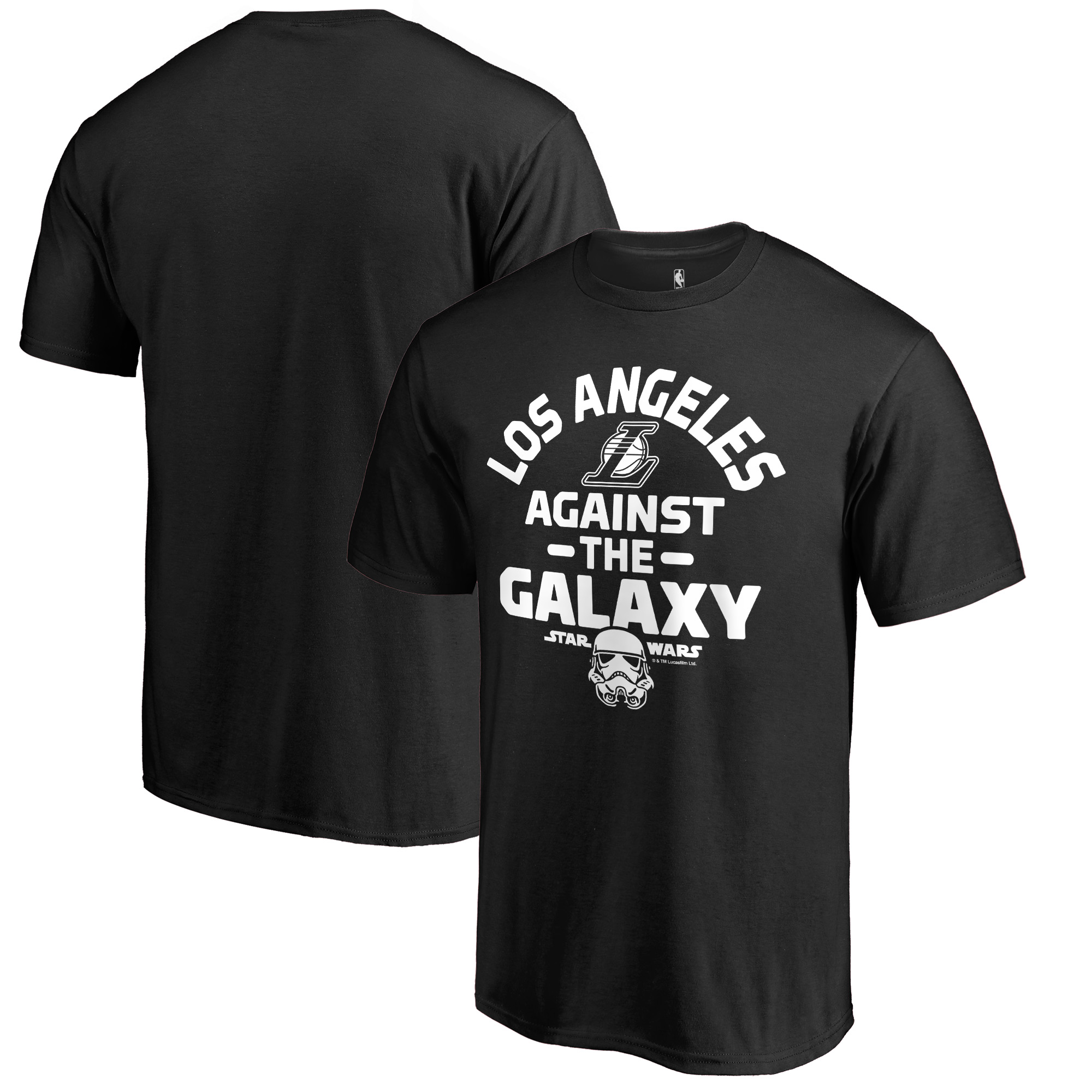 Los Angeles Lakers Fanatics Branded Star Wars Against the Galaxy T-Shirt - Black