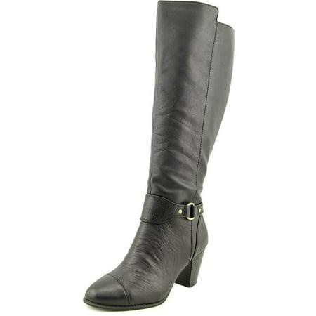 5d89ff5ef507 Giani Bernini - Giani Bernini Cagney Wide Calf Women Round Toe Leather  Black Knee High Boot - Walmart.com