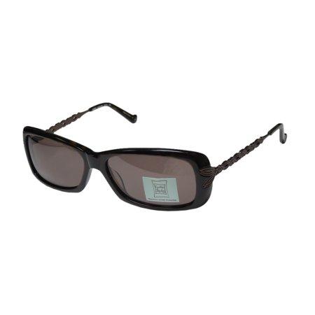 New Cynthia Rowley 0347 Womens/Ladies Designer Full-Rim 100% UVA & UVB Tortoise Ultimate Comfort Durable Sleek Shades Sunnies Frame Dark Brown Lenses 57-15-130 (Cynthia Rowley Designer)