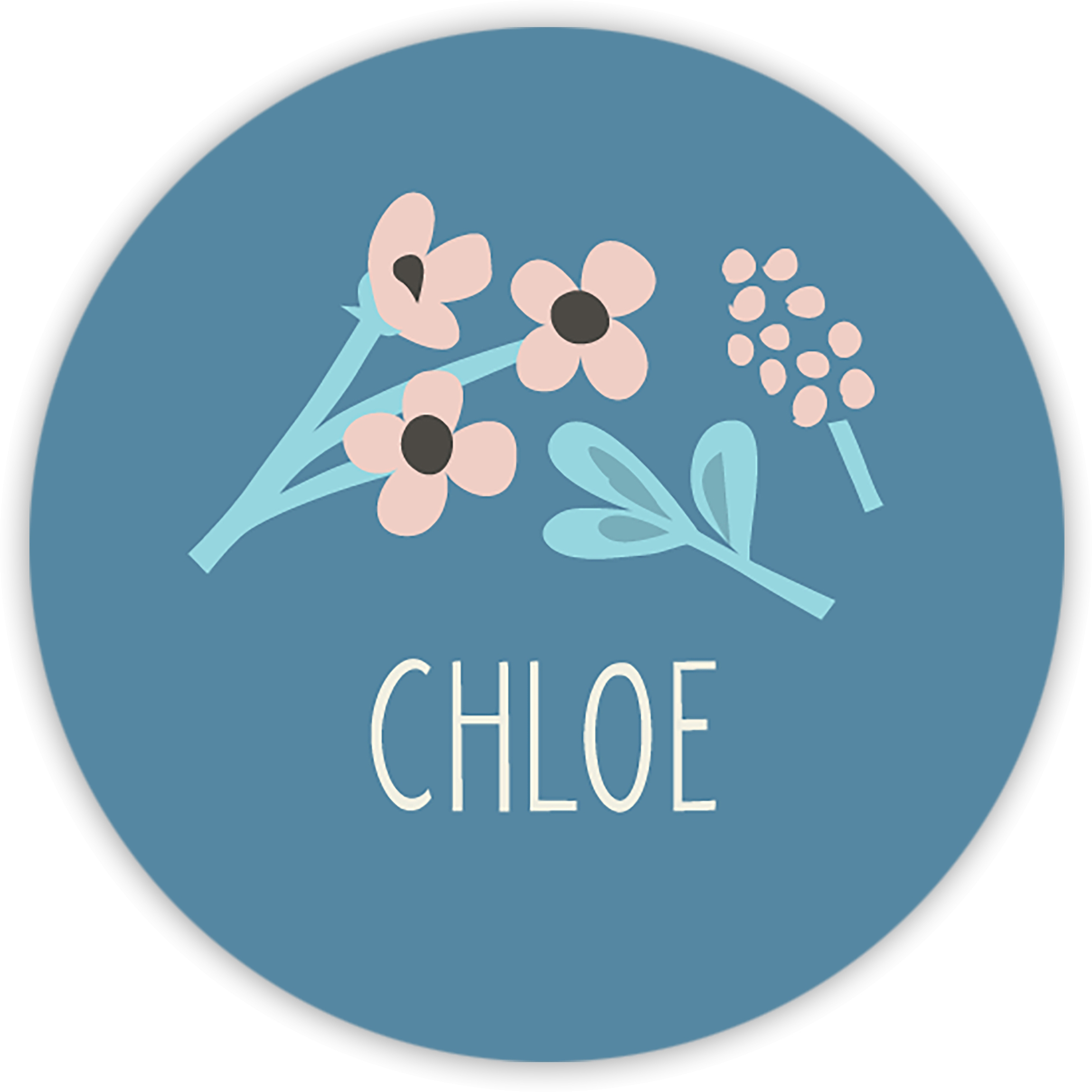 Thankful Florist - Personalized 1.75 Circle Seal Sticker