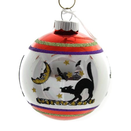 Shiny Brite Halloween (Shiny Brite HALLOWEEN SIGNATURE FLOCKED.. Glass Ornament)