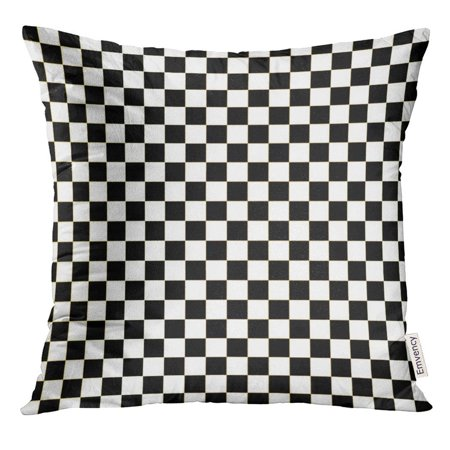 ARHOME Chequered Checkered Flag Racing White Race Pillow Case 18x18 Inches Pillowcase