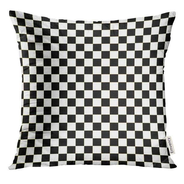 Arhome Chequered Checkered Flag Racing White Race Pillow Case 16x16 Inches Pillowcase Walmart Com Walmart Com