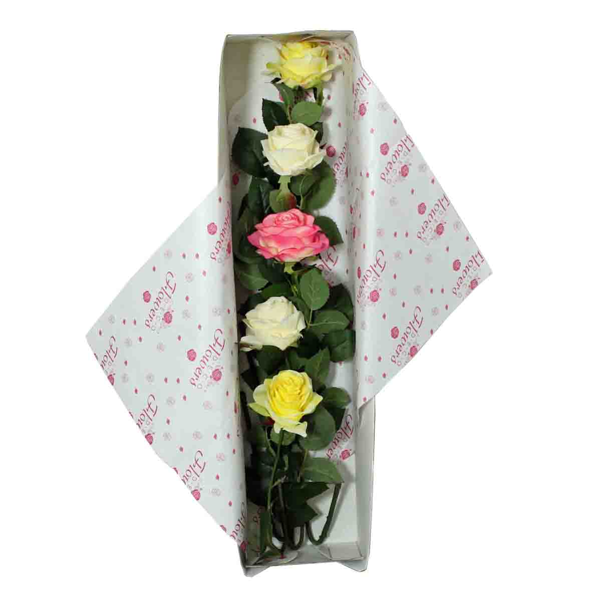 Special Occasion Silk Wild Rose Flower Bouquet With Gift Box