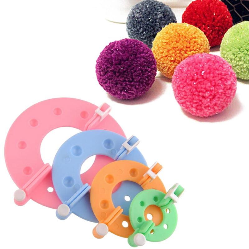 4 Sizes Essential Pompom Maker Fluff Ball Weaver Needle Knitting DIY Tool  new