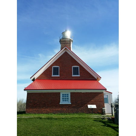 Canvas Print Red Tawas Point Reflection Lighthouse Michigan Stretched Canvas 10 x 14 (Tawas Point)