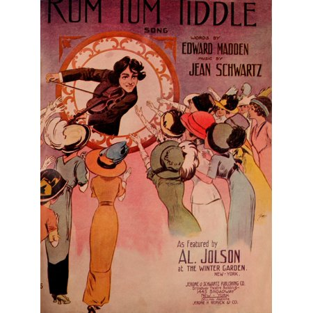 Sheet Music Cover For Rum Tum Tiddle Poster Print By  William Starmer