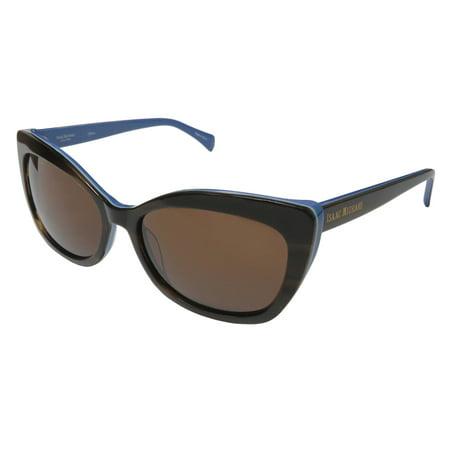 Isaac Mizrahi - New Isaac Mizrahi 30229 Womens Ladies Cat Eye Full-Rim 100%  Uva   Uvb Brown   Blue Frame Brown Lenses 56-17-135 Sunglasses Sun Glasses  ... d1062ea182