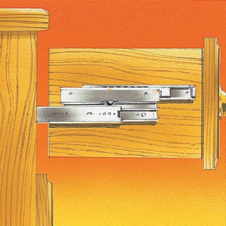 series 4034 Slide 16'' length, Slide extends 1- 1/2 By Accuride Ship from US