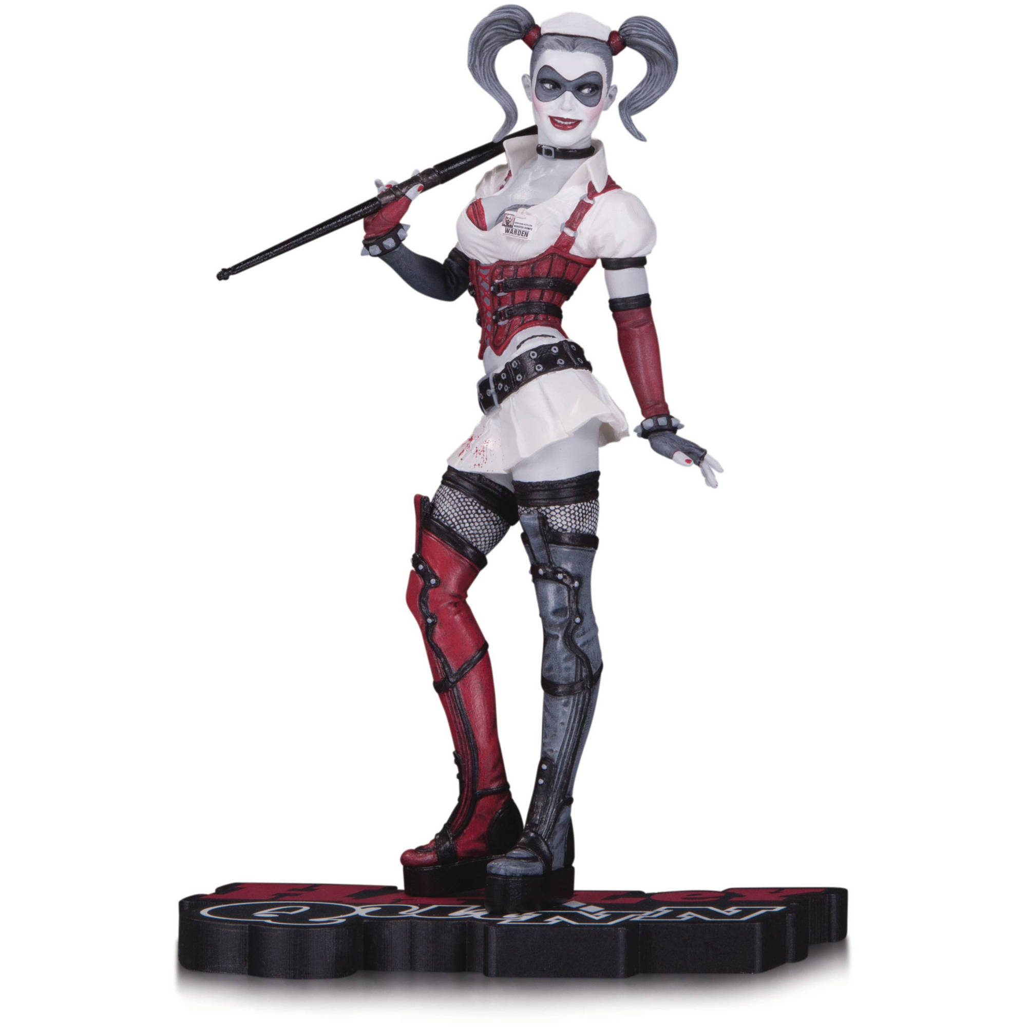 DC Comics Harley Quinn Red White and Black Arkham Asylum Statue by DC COMICS