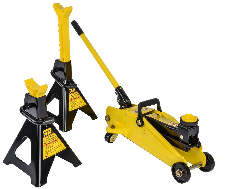 JEGS 79002K Dads Garage Starter Kit Jack Jack Stands and Seat