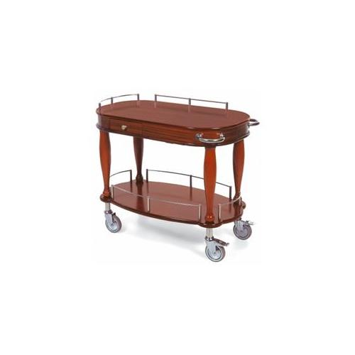 Geneva Signature 70011 2-shelf wood veneer serving cart