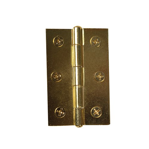 """Symmetry Brass Plated 2 1/2"""" Hinge with Screws"""