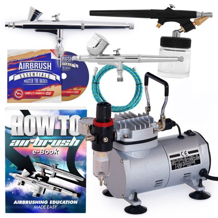- PointZero Airbrush Dual Action Airbrush Kit with 3 Airbrushes