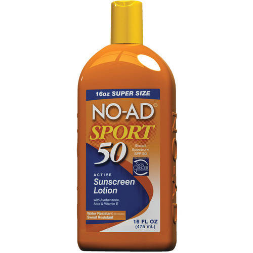 No-Ad Sport Sunscreen Lotion SPF 50, 16.0 FL OZ