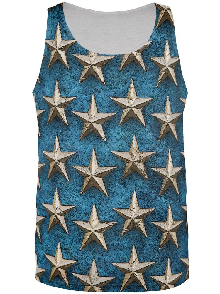 Metals Stars All Over Adult Tank Top
