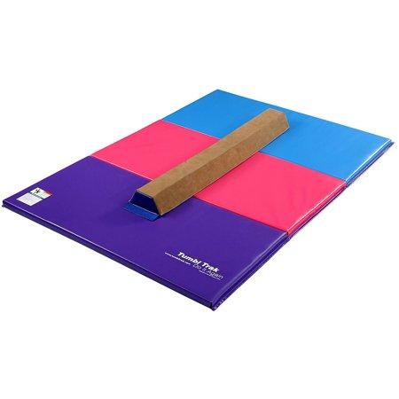 Tumbl Trak Sectional Beam & Gymnastics Tumbling Mat Combo (Gymnastic Mat And Beam)