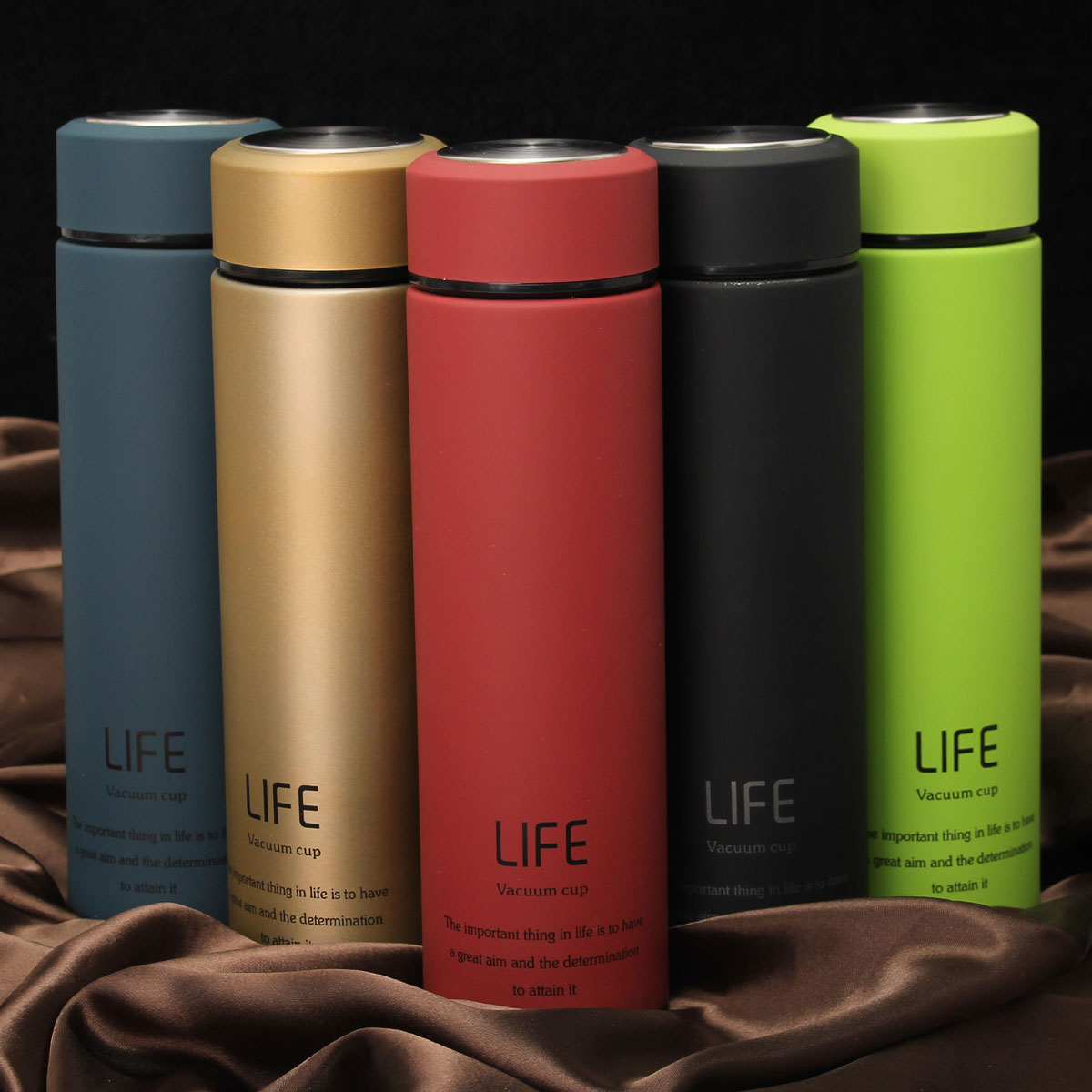 500ML/18Oz Portable Stainless Steel Vacuum-Insulated Thermos leak-proof Insulated Container Coffee Tea Beverage Bottle Flasks Travel Mug 5 Colors