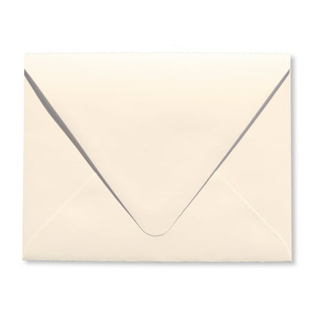Shipped Free Ivory 25 Boxed A7 (5-1/4 x 7-1/4) Contour Euro Flap 70lb Envelopes Perfect for 5 x 7 Invitations, Announcements, Weddings by The Envelope Gallery ()