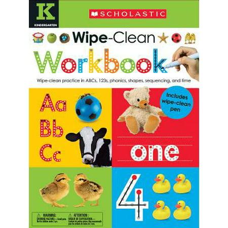 Wipe Clean Workbook: Kindergarten (Scholastic Early Learners) for $<!---->