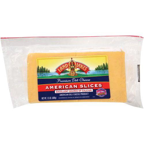 Land O Lakes American Yellow Premium Deli Cheese Slices, 32 count, 1.5 lbs