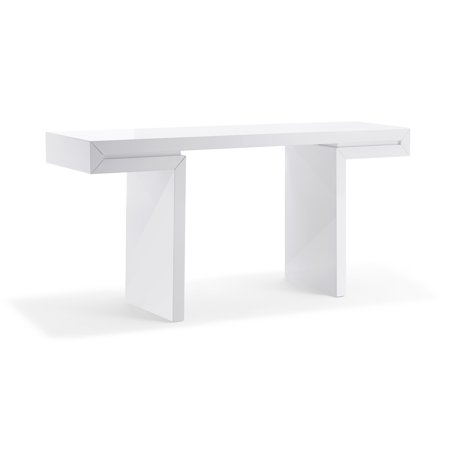 Whiteline Modern Living White Delaney Contemporary High Gloss Lacquer -