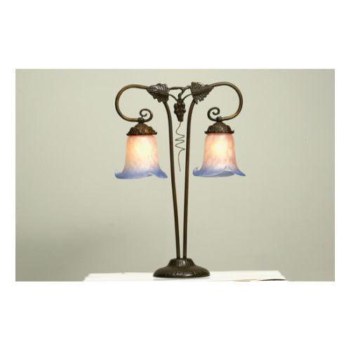 Meyda Tiffany 102402 Tiffany Two Light Grape Table Lamp by Meyda Tiffany