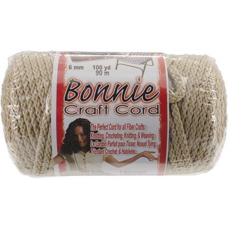 Bonnie Macrame Craft Cord 6mmX100yd-Jute - image 1 de 1