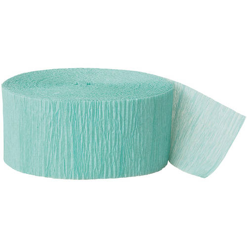 Seafoam Green Crepe Paper Streamers, 81ft