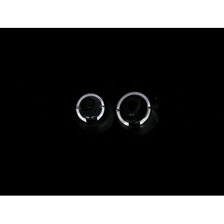 - ANZO 1998-2002 Honda Accord Projector Headlights w/ Halo Black
