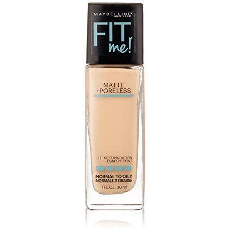 maybelline new york fit me matte plus poreless foundation makeup, ivory, 1 fluid ounce