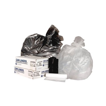 Inteplast Group High-Density Trash Bag, 40 x 46, 45gal, 11mic, Clear, 25/Roll, 10 Rolls/Carton -IBSVALH4048N12