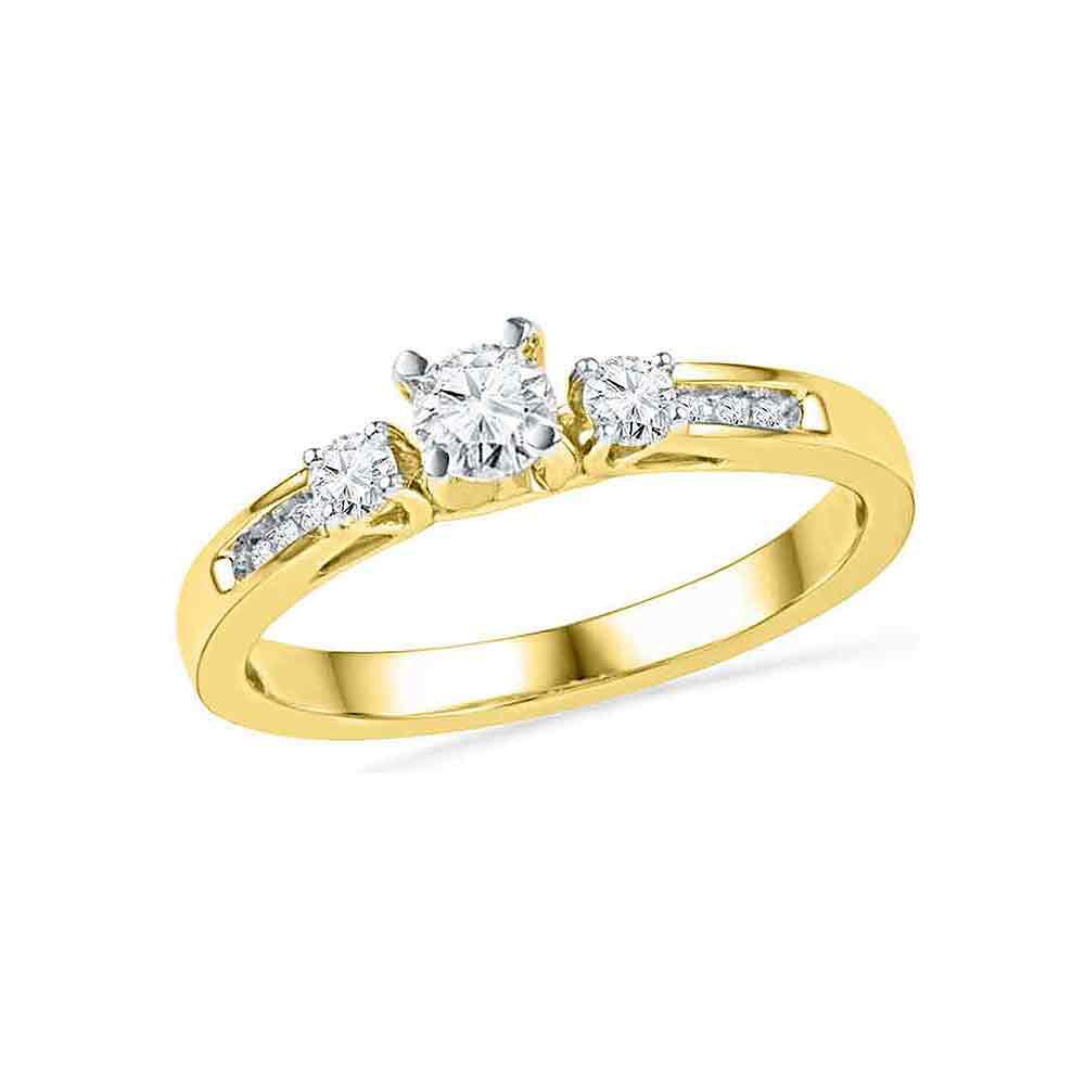 1/2Ctw Diamond Fashion Ring Yellow-Gold 10K