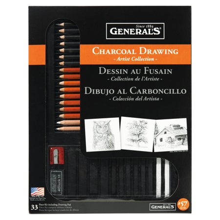 General Pencil Classic Charcoal Kit (Original Charcoal Drawing)