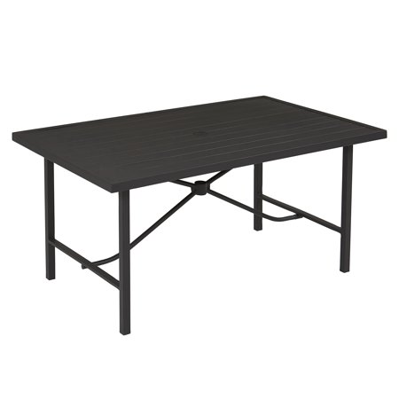 Image of COSCO Outdoor Furniture, Patio Dining Table, Steel, Charcoal