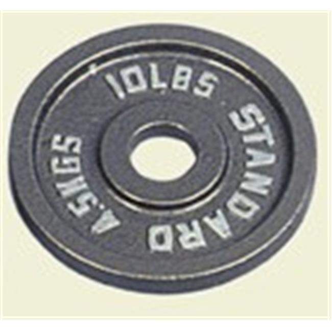 Troy Barbell O-010 Gray Olympic Weight Plate - 10 Pounds