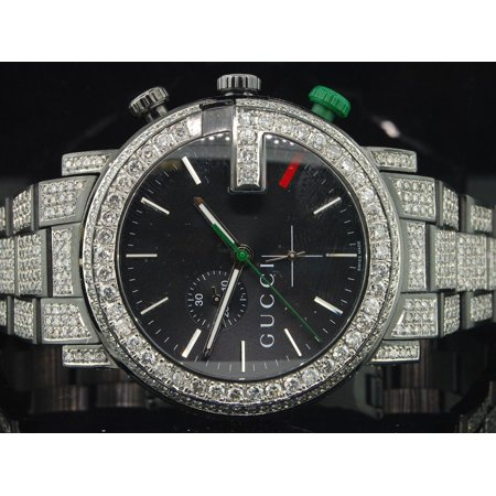 a033c644d58 Gucci - Diamond Gucci Watch Ya101331 Mens 16.50 CT Custom G Chronograph  Fully Iced Band - Walmart.com