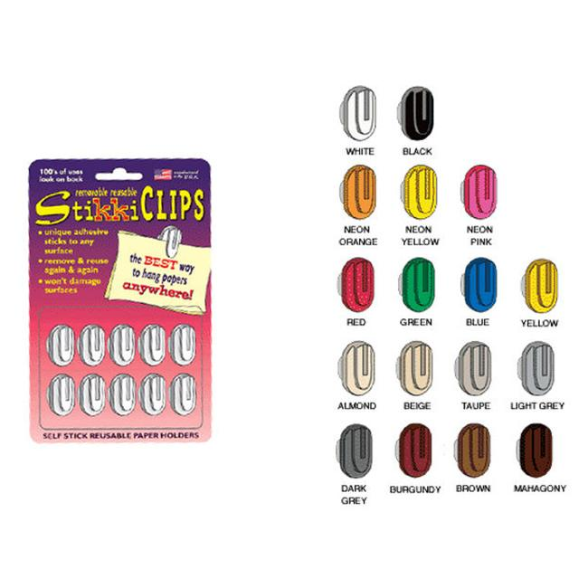StikkiWorks 8100 Stikkiclips 30-Card - Neons - 2 Pack Orange-Yellow-Pink
