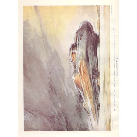 The Wonder Book of Motors 1947 John Cobbs Railton Canvas Art - Frederick Gordon Crosby (18 x 24)
