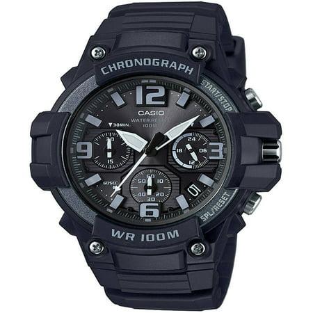 Blue Strap Chronograph Watch (Men's Black Chronograph Watch, Resin Strap, MCW100H-1A3V )