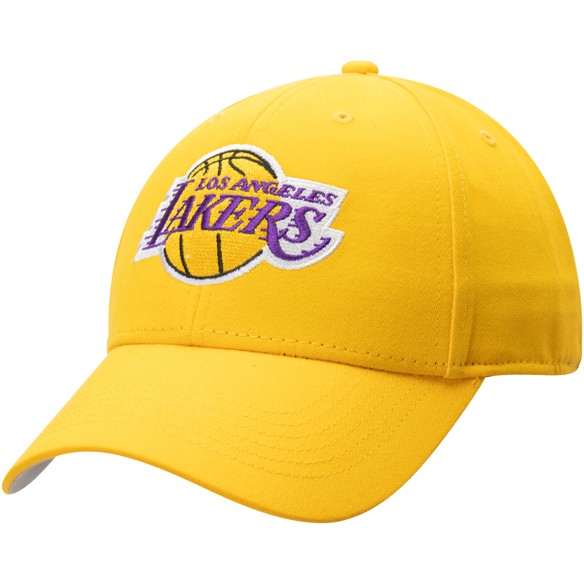 Men's Gold Los Angeles Lakers Mass Basic Adjustable Hat - OSFA