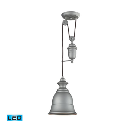 Pendants 1 Light LED With Aged Pewter Finish 8 inch 13.5 Watts - World of Lamp Aged Pewter One Light