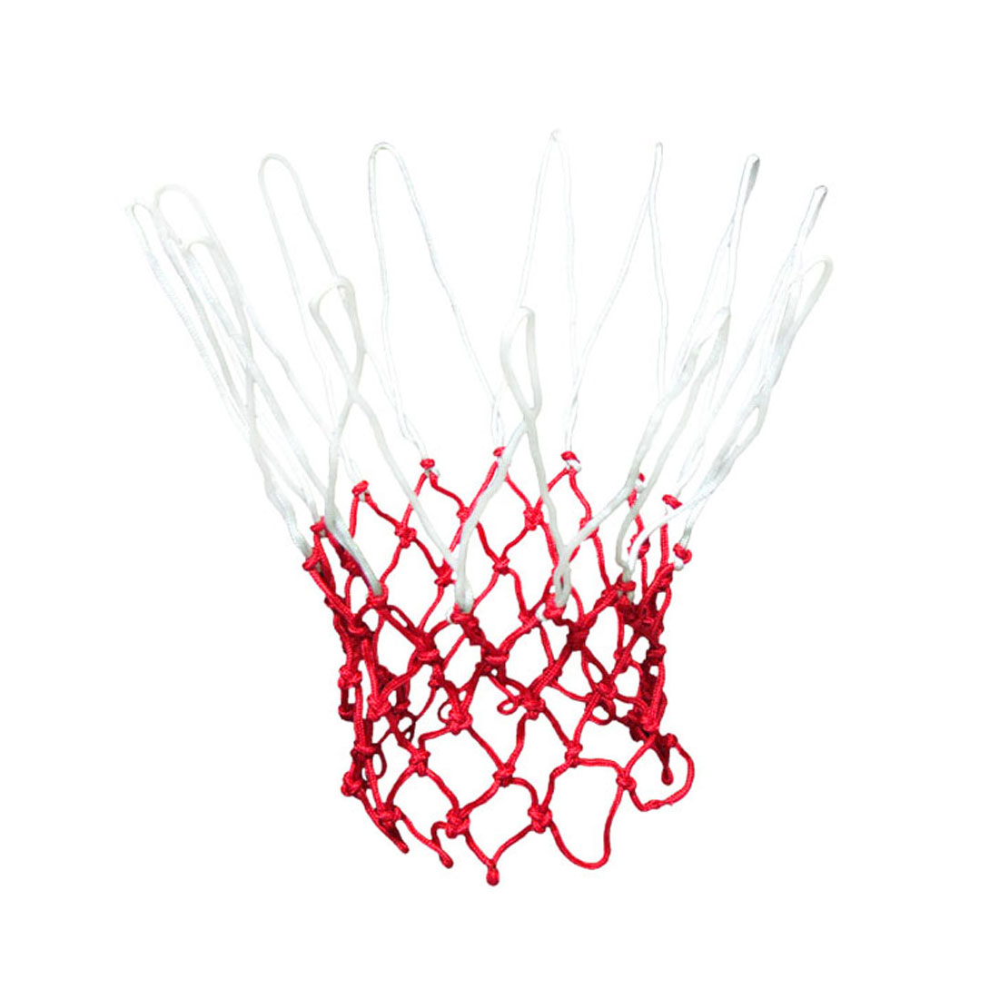 "Unique Bargains 18"" Long Fashion Style Nylon Basketball Net White Red 13 Loops"