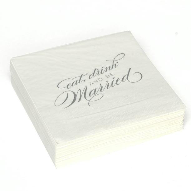 Way To Celebrate Marriage Wedding Cocktail Napkin 1 Each Walmart Com