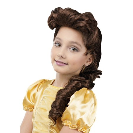 Snow White Wig Child (Child Pretty Princess Cinderella Mermaid Belle Snow White Wig Costume)
