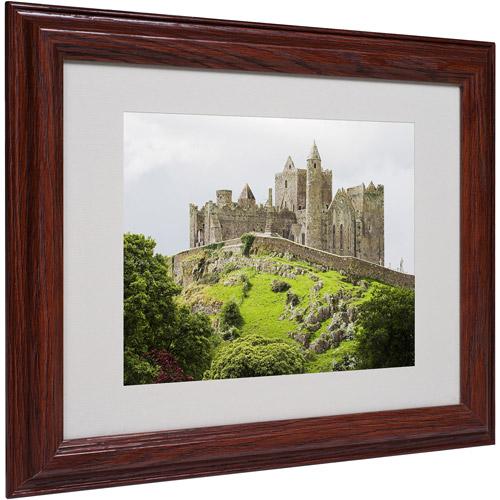 """Trademark Fine Art """"Rock of Cashel Ireland"""" Matted Framed Art by Pierre Leclerc"""